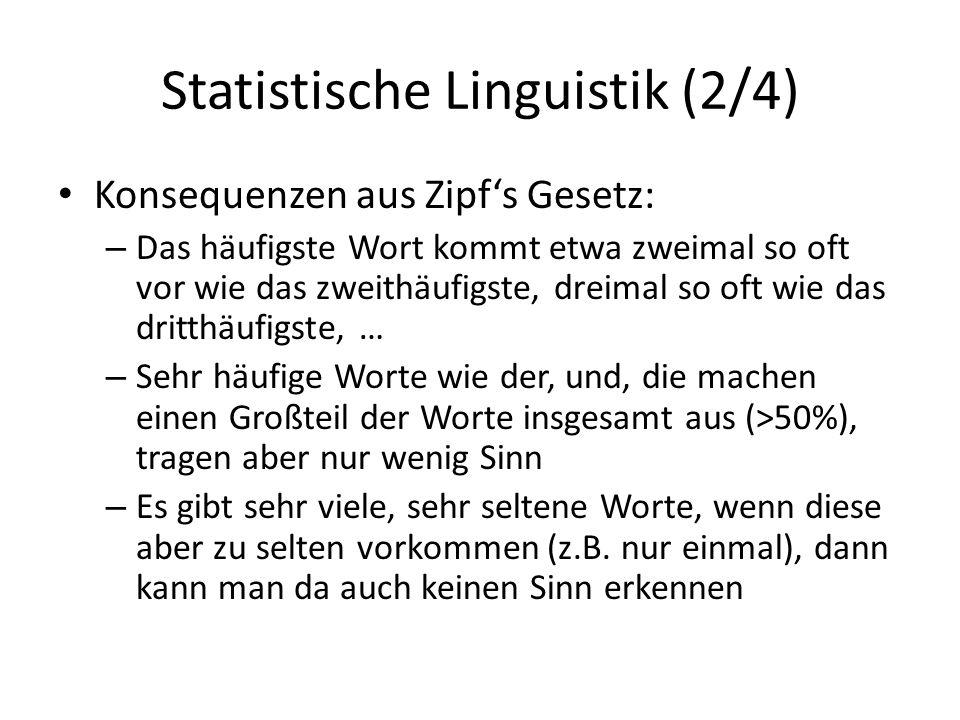 Statistische Linguistik (2/4)