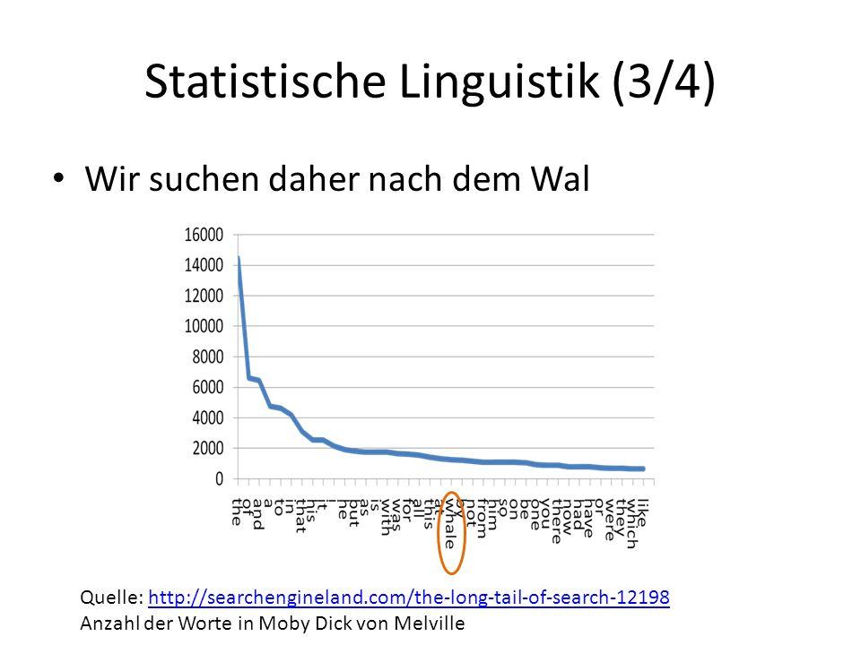 Statistische Linguistik (3/4)
