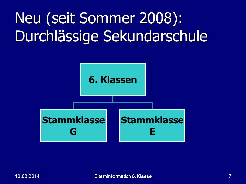 Neu (seit Sommer 2008): Durchlässige Sekundarschule