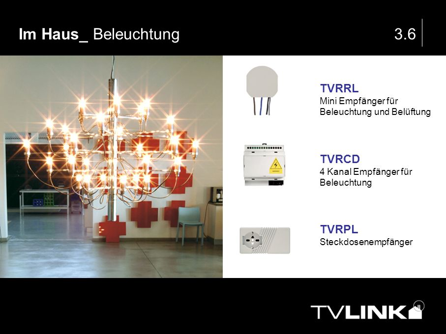 Im Haus_ Beleuchtung 3.6 TVRRL TVRCD TVRPL