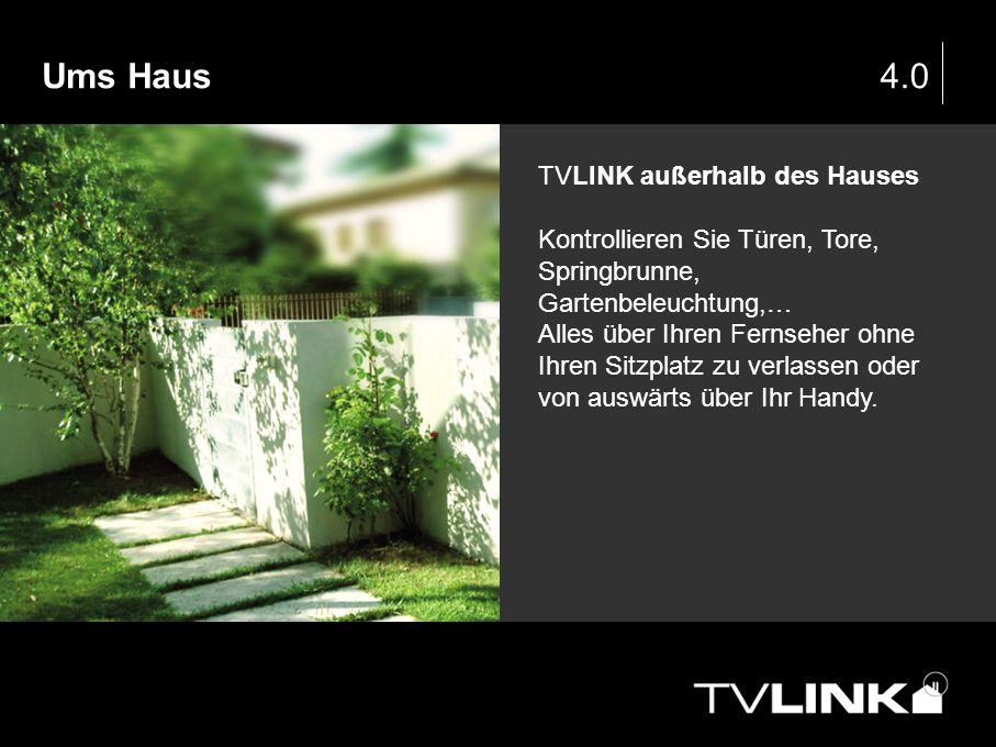 Ums Haus 4.0 TVLINK außerhalb des Hauses