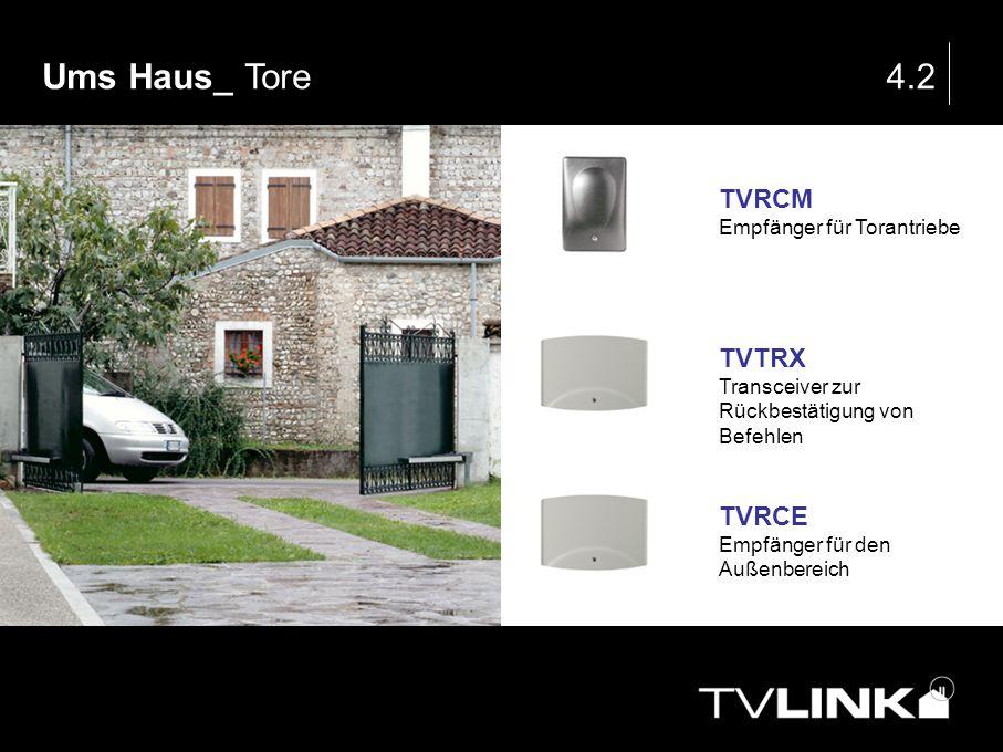 Ums Haus_ Tore 4.2 TVRCM TVTRX TVRCE Empfänger für Torantriebe