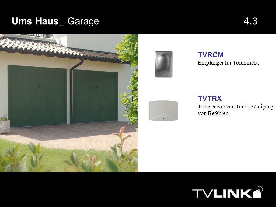 Ums Haus_ Garage 4.3 TVRCM TVTRX Empfänger für Torantriebe