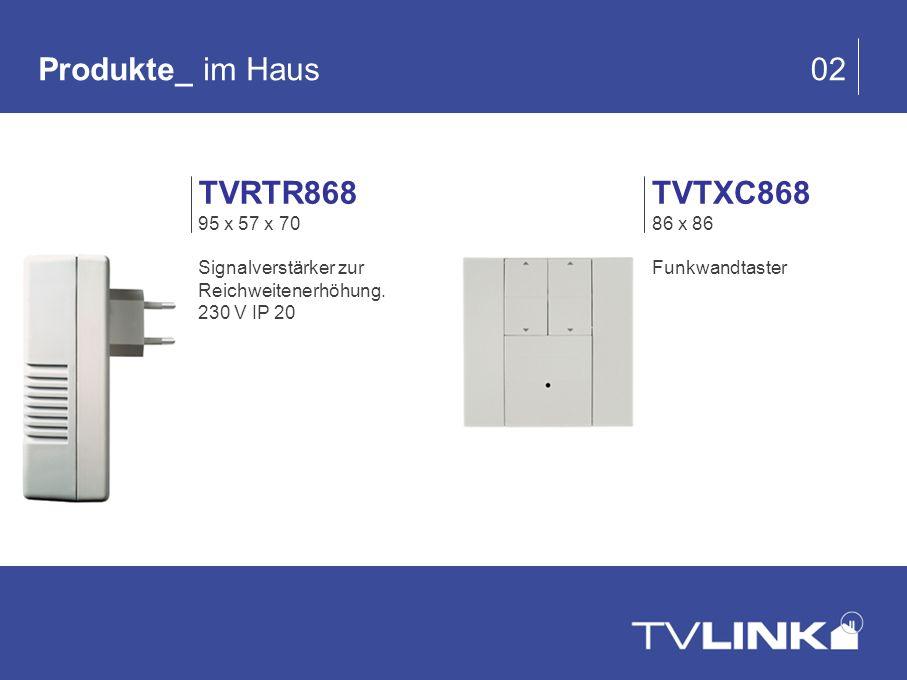 Produkte_ im Haus 02 TVRTR868 TVTXC868 95 x 57 x 70