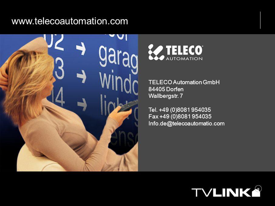 www.telecoautomation.com TELECO Automation GmbH 84405 Dorfen