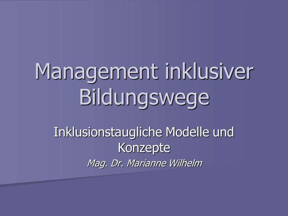 Management inklusiver Bildungswege