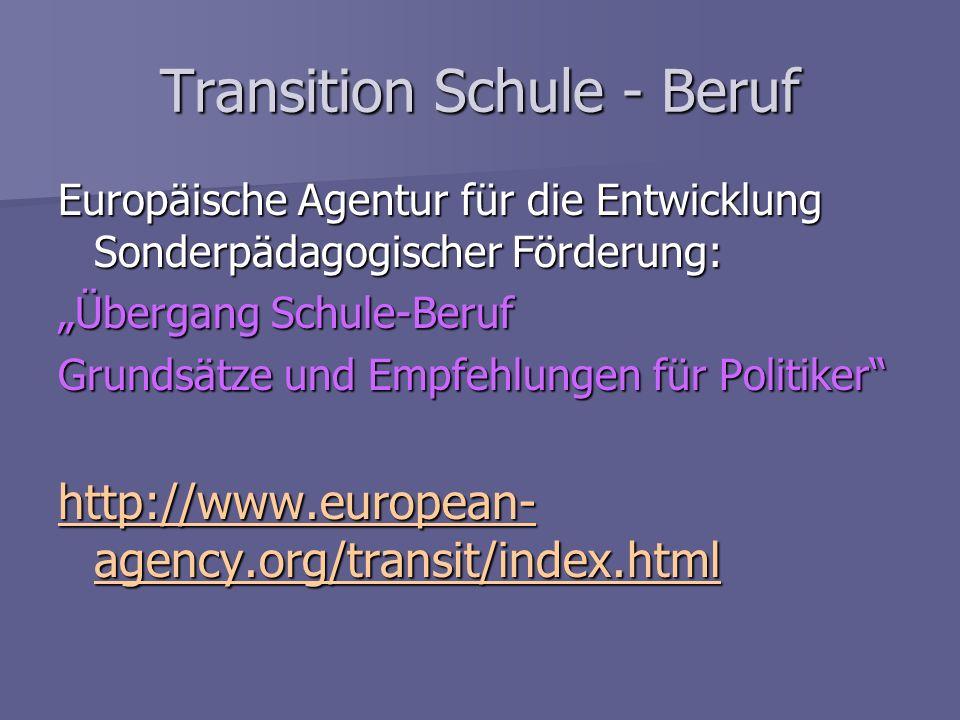 Transition Schule - Beruf