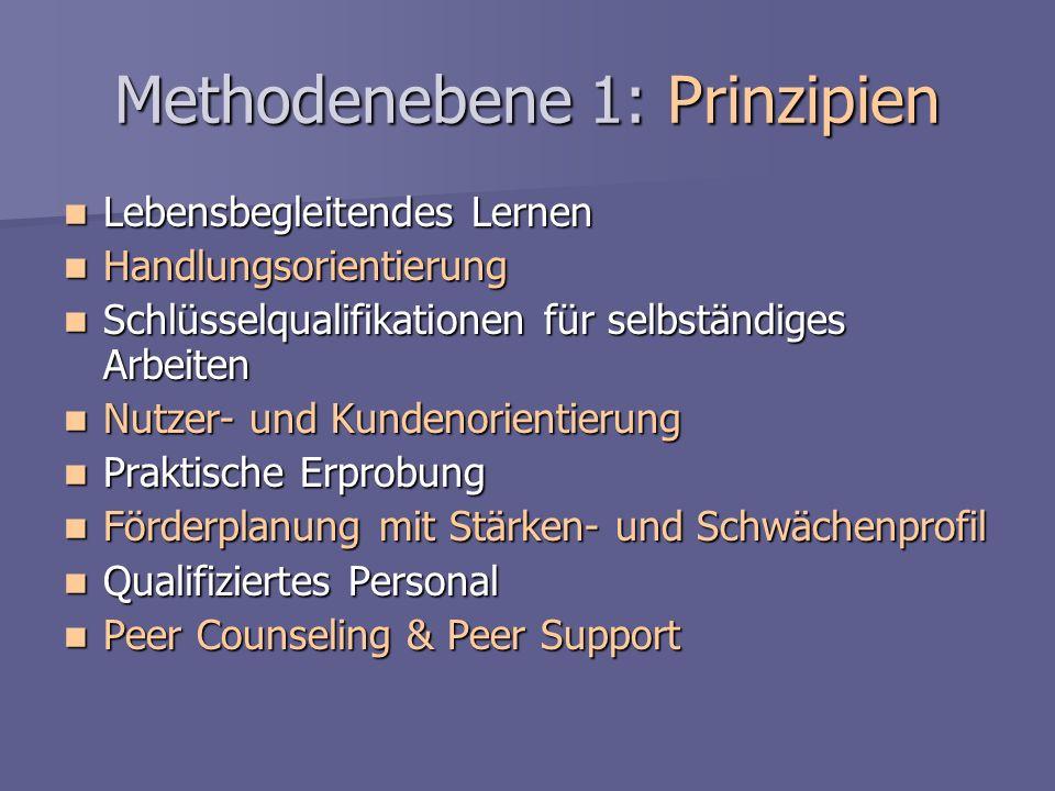 Methodenebene 1: Prinzipien