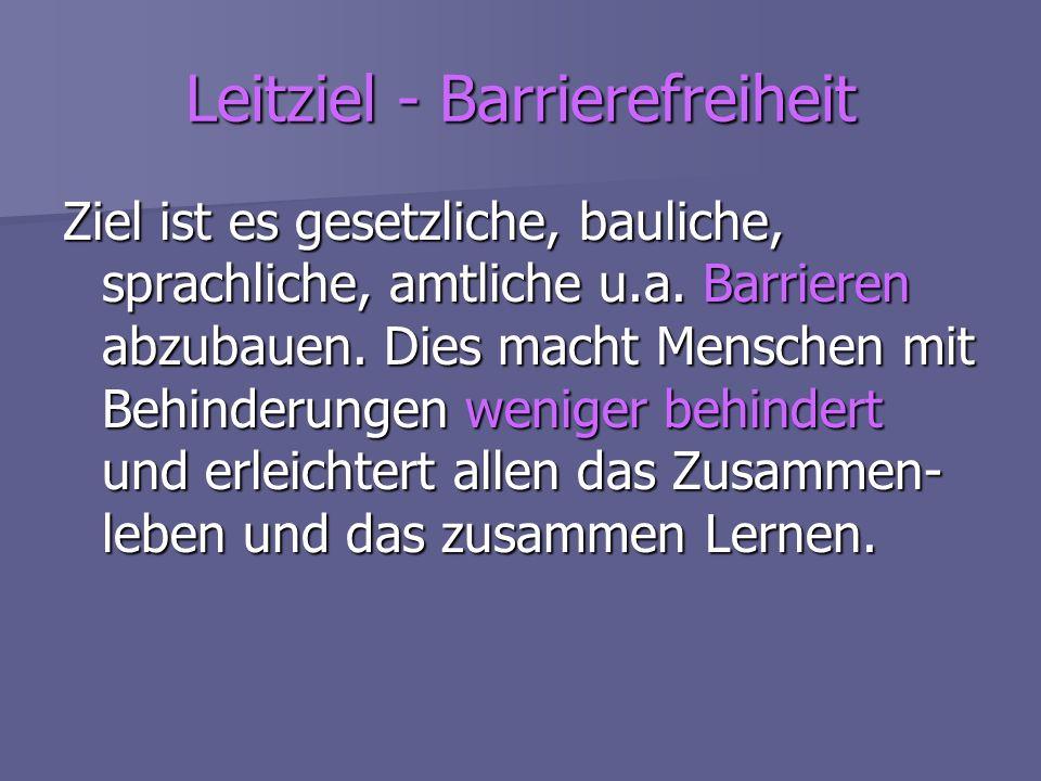 Leitziel - Barrierefreiheit
