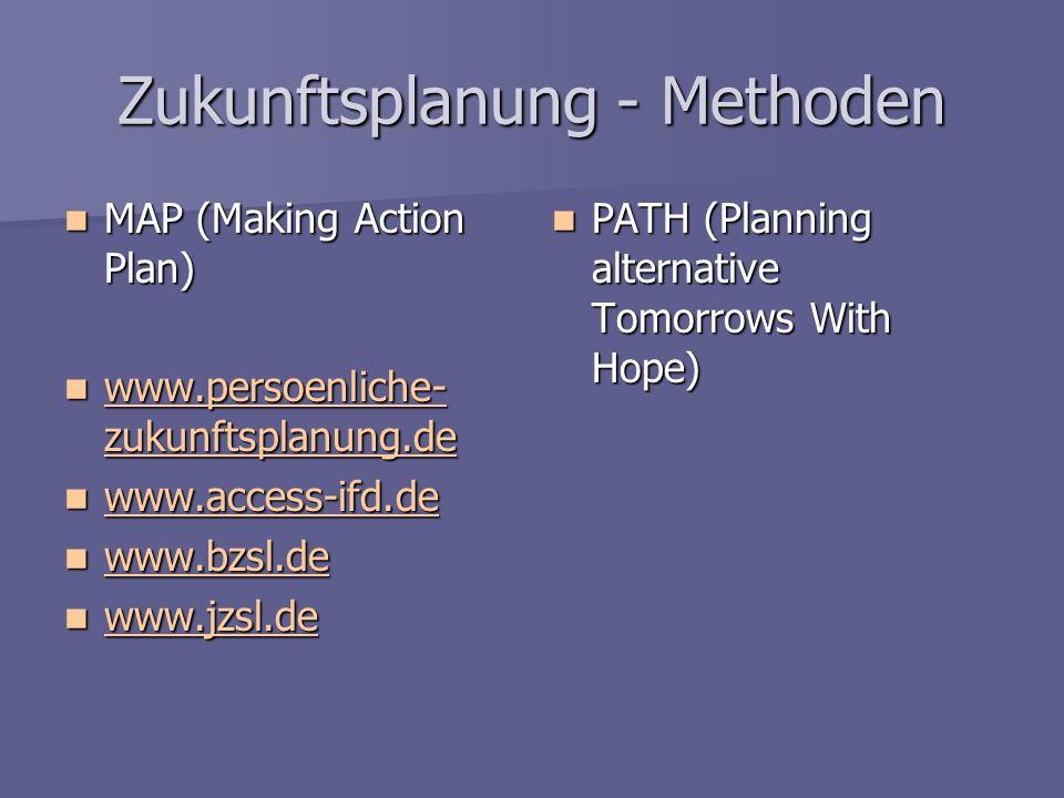 Zukunftsplanung - Methoden