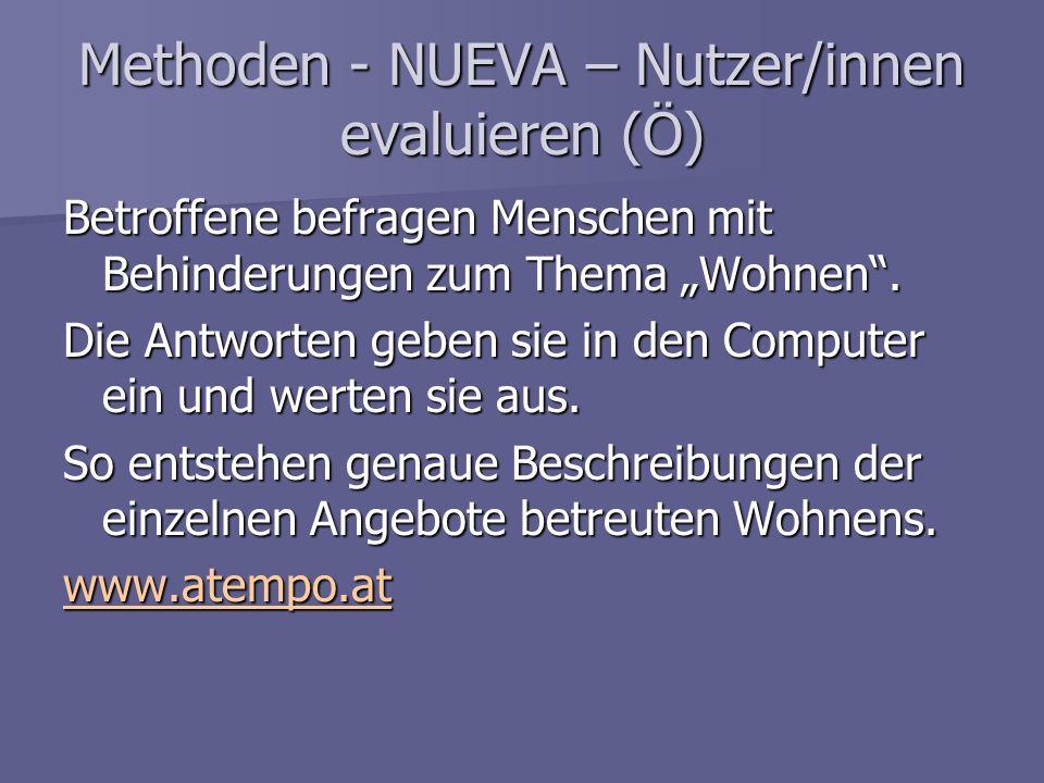 Methoden - NUEVA – Nutzer/innen evaluieren (Ö)