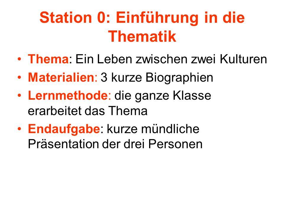 Station 0: Einführung in die Thematik