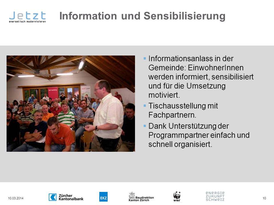 Information und Sensibilisierung