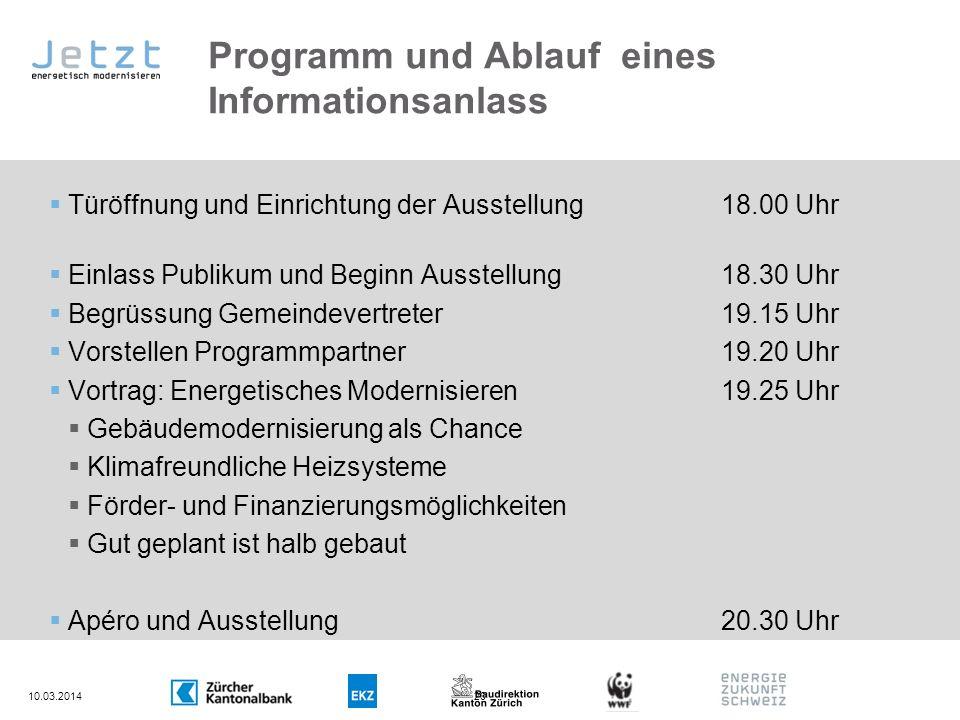 Programm und Ablauf eines Informationsanlass