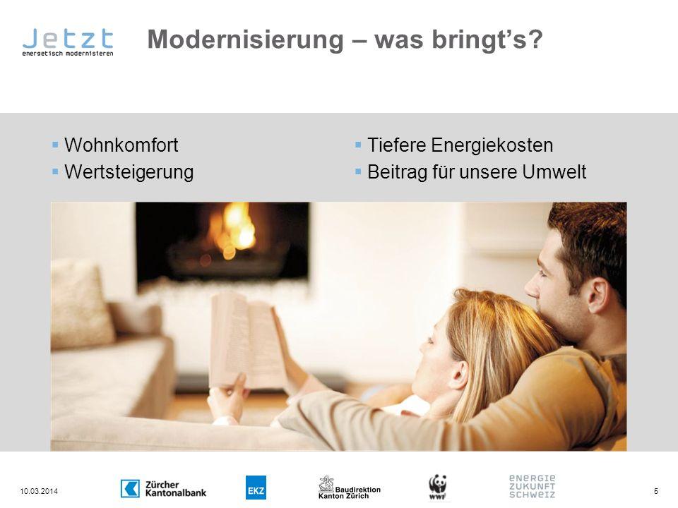 Modernisierung – was bringt's
