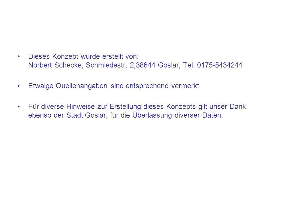 Dieses Konzept wurde erstellt von: Norbert Schecke, Schmiedestr
