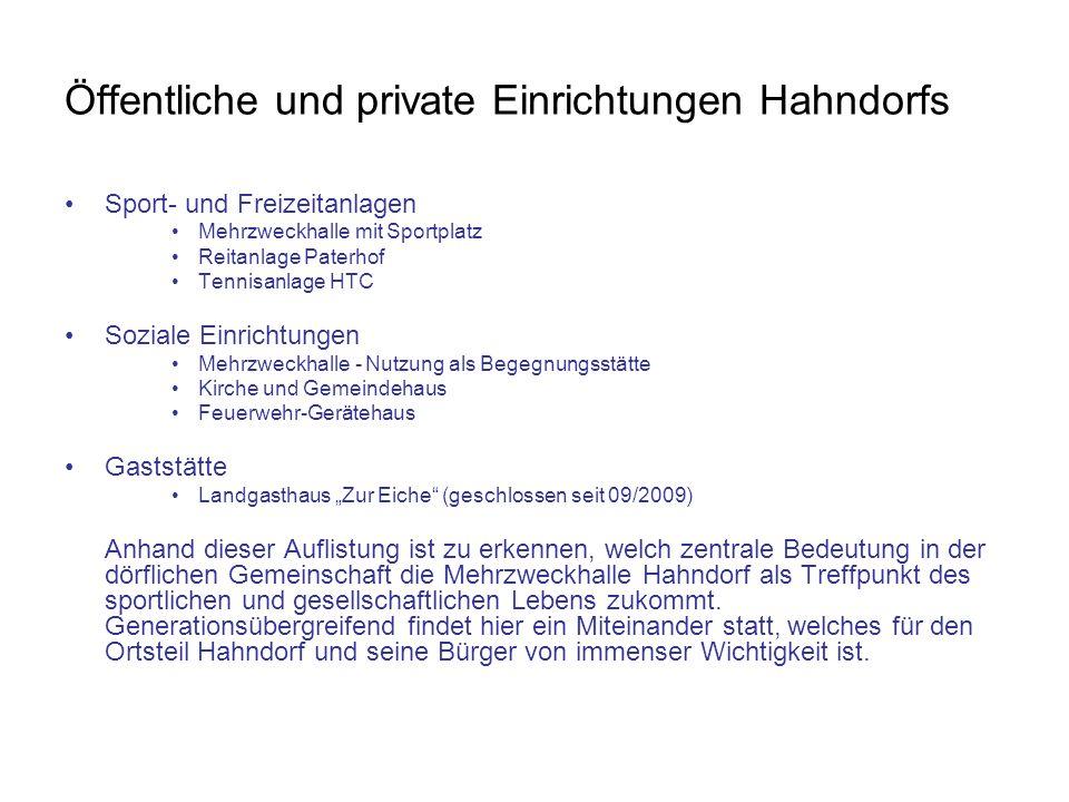 Öffentliche und private Einrichtungen Hahndorfs