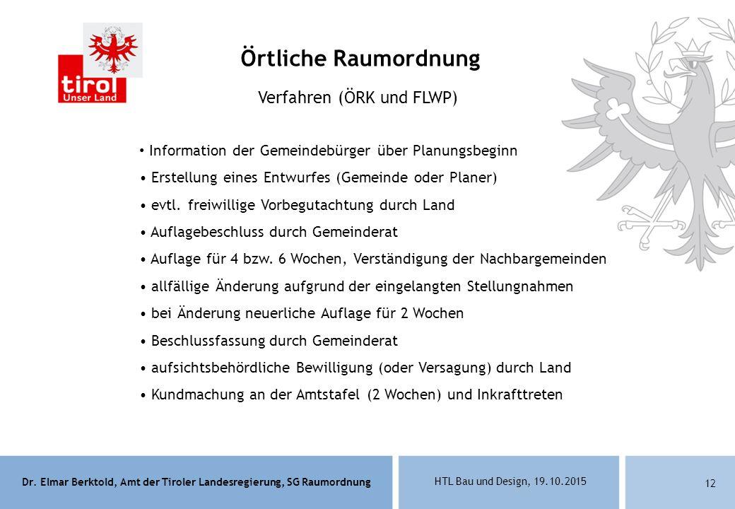 Verfahren (ÖRK und FLWP)