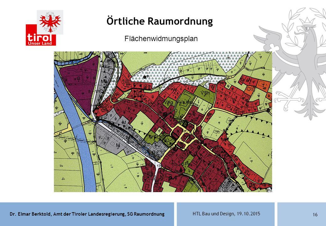 Örtliche Raumordnung Flächenwidmungsplan