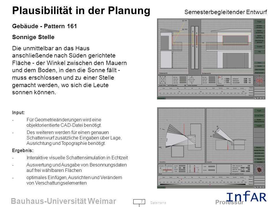 Gebäude - Pattern 161 Sonnige Stelle