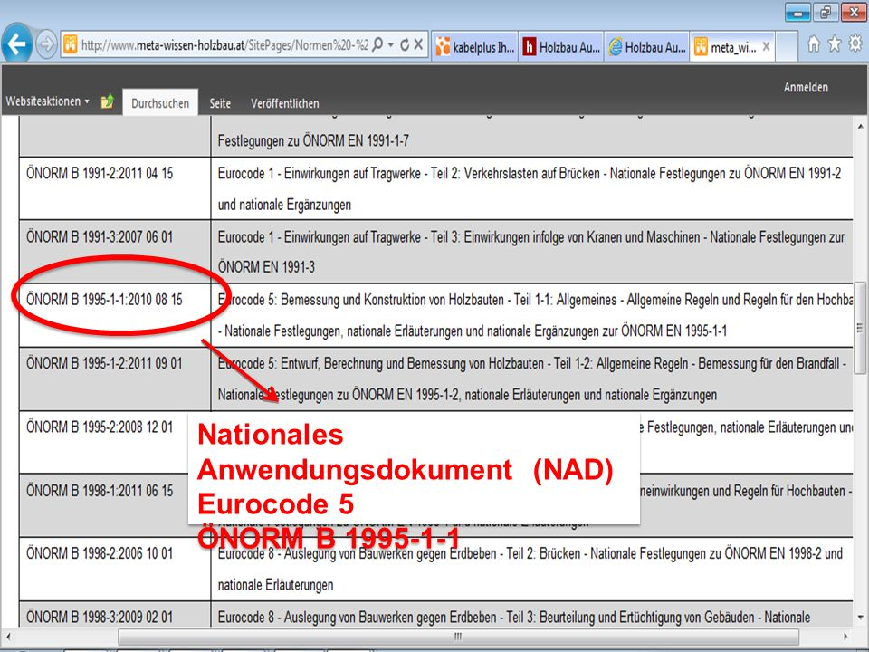 Nationales Anwendungsdokument (NAD) Eurocode 5