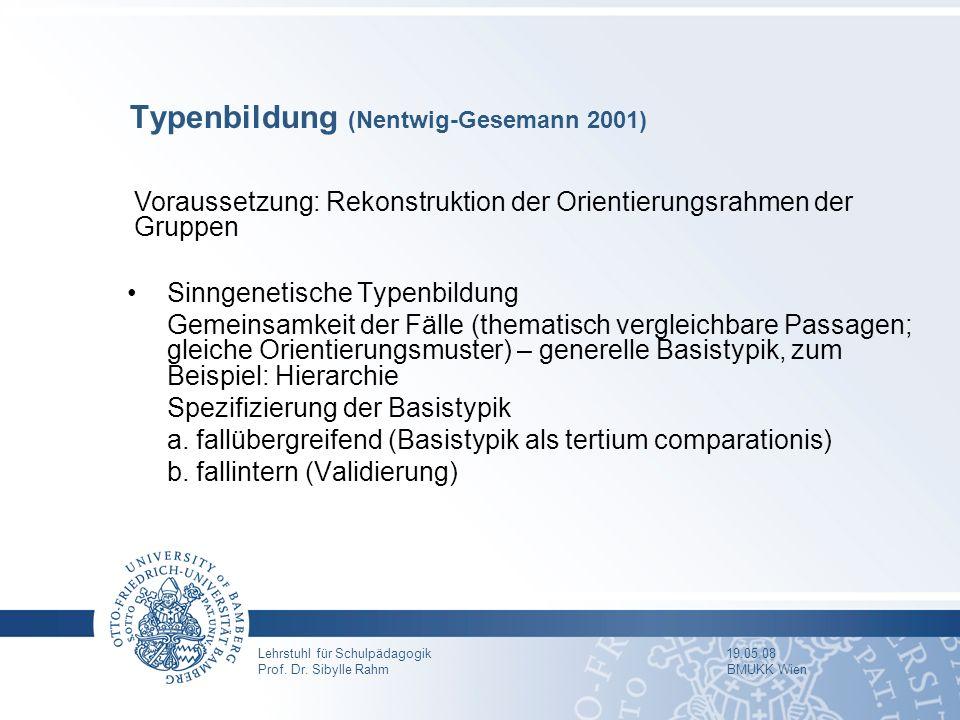 Typenbildung (Nentwig-Gesemann 2001)