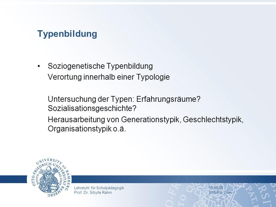 Typenbildung Soziogenetische Typenbildung