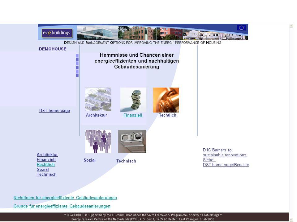 Hemmnisse und Chancen einer energieeffizienten und nachhaltigen Gebäudesanierung