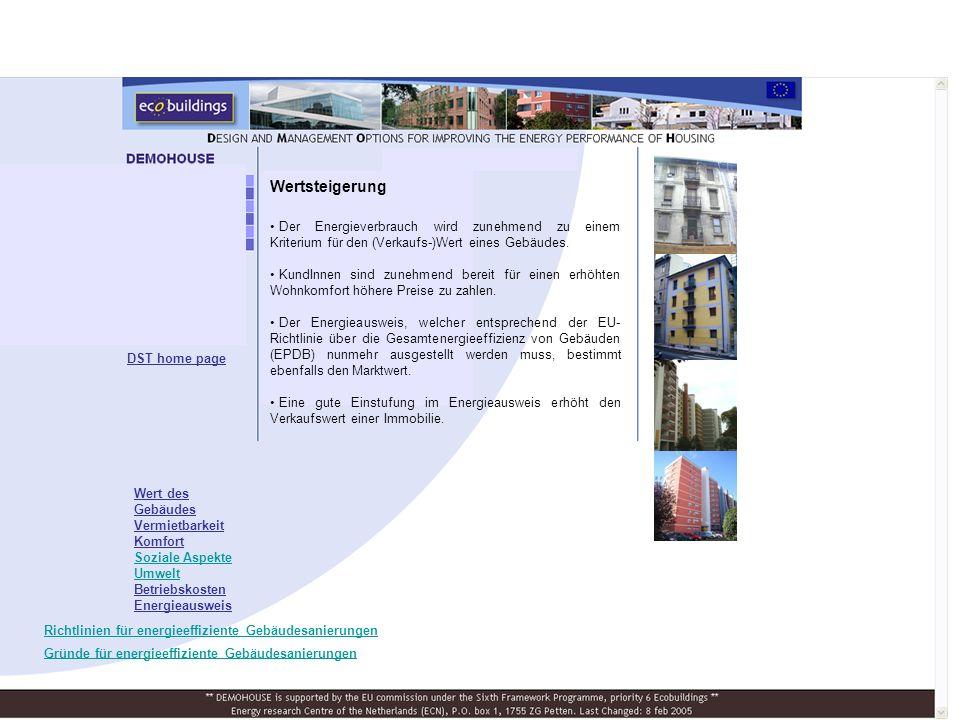 Wertsteigerung Der Energieverbrauch wird zunehmend zu einem Kriterium für den (Verkaufs-)Wert eines Gebäudes.