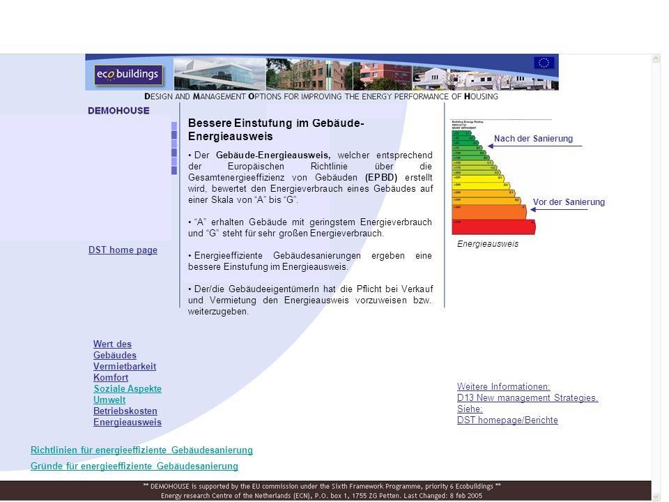 Bessere Einstufung im Gebäude-Energieausweis