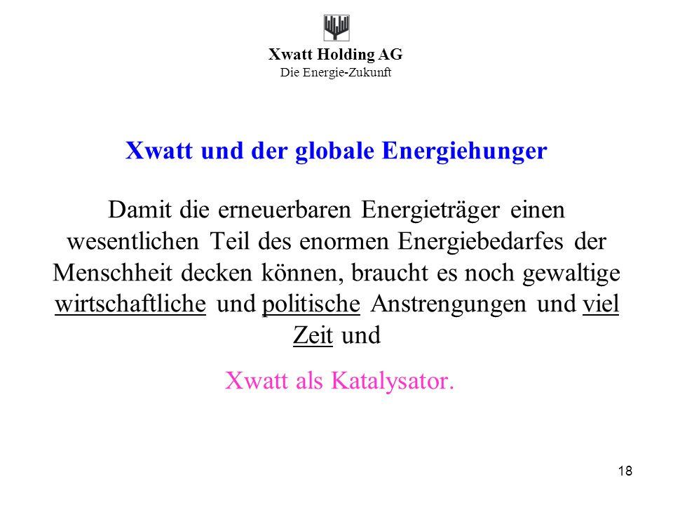 Xwatt und der globale Energiehunger