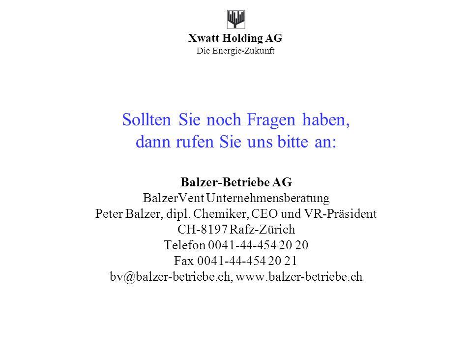 Sollten Sie noch Fragen haben, dann rufen Sie uns bitte an: Balzer-Betriebe AG BalzerVent Unternehmensberatung Peter Balzer, dipl.