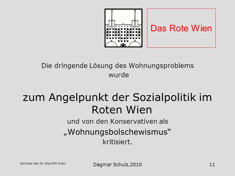 zum Angelpunkt der Sozialpolitik im Roten Wien
