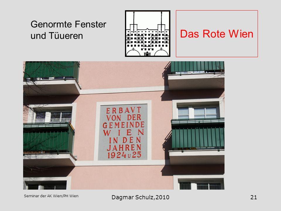Das Rote Wien Genormte Fenster und Tüueren Dagmar Schulz,2010