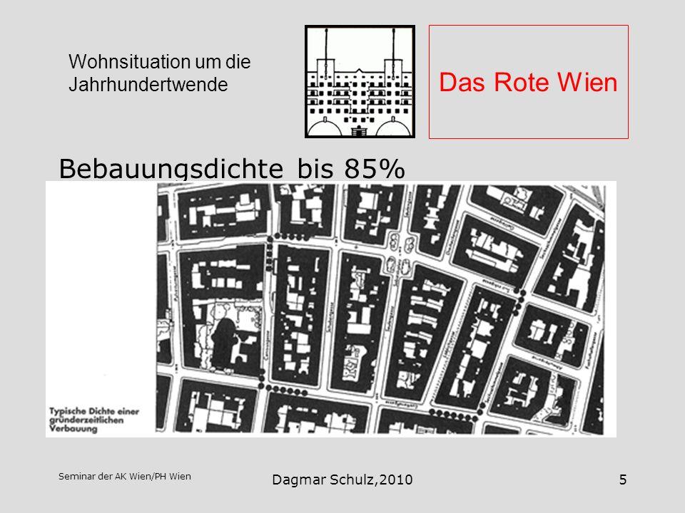 Das Rote Wien Bebauungsdichte bis 85%