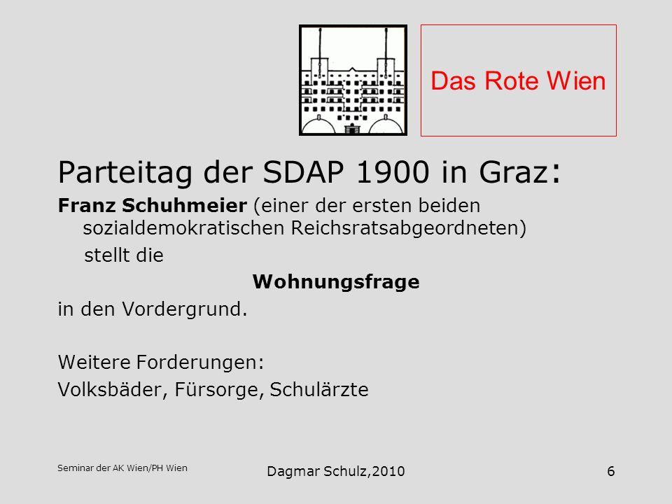 Parteitag der SDAP 1900 in Graz: