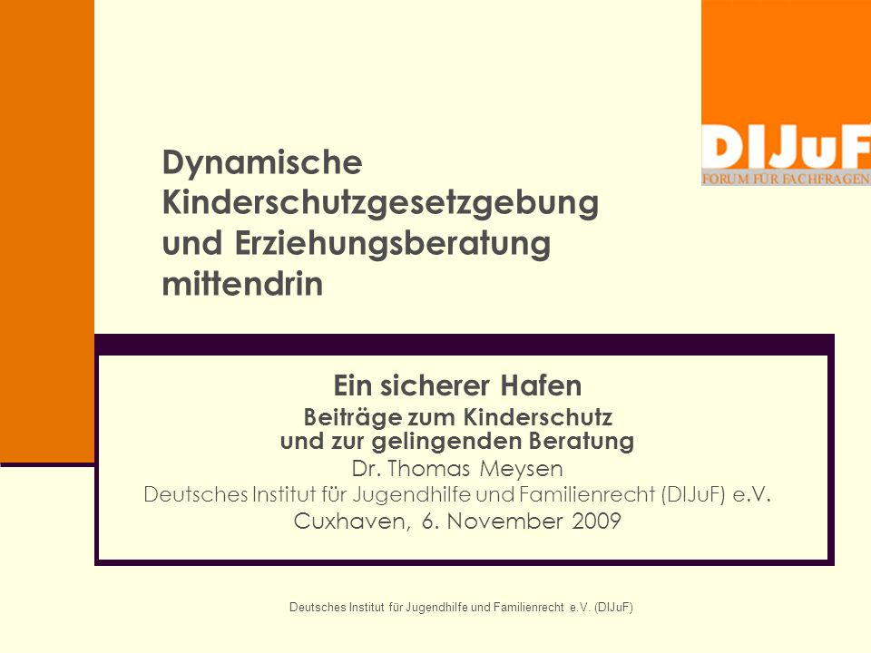 Dynamische Kinderschutzgesetzgebung und Erziehungsberatung mittendrin