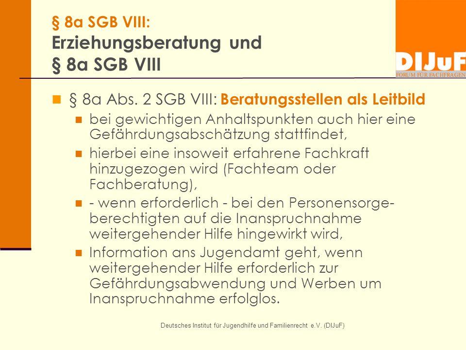 § 8a SGB VIII: Erziehungsberatung und § 8a SGB VIII