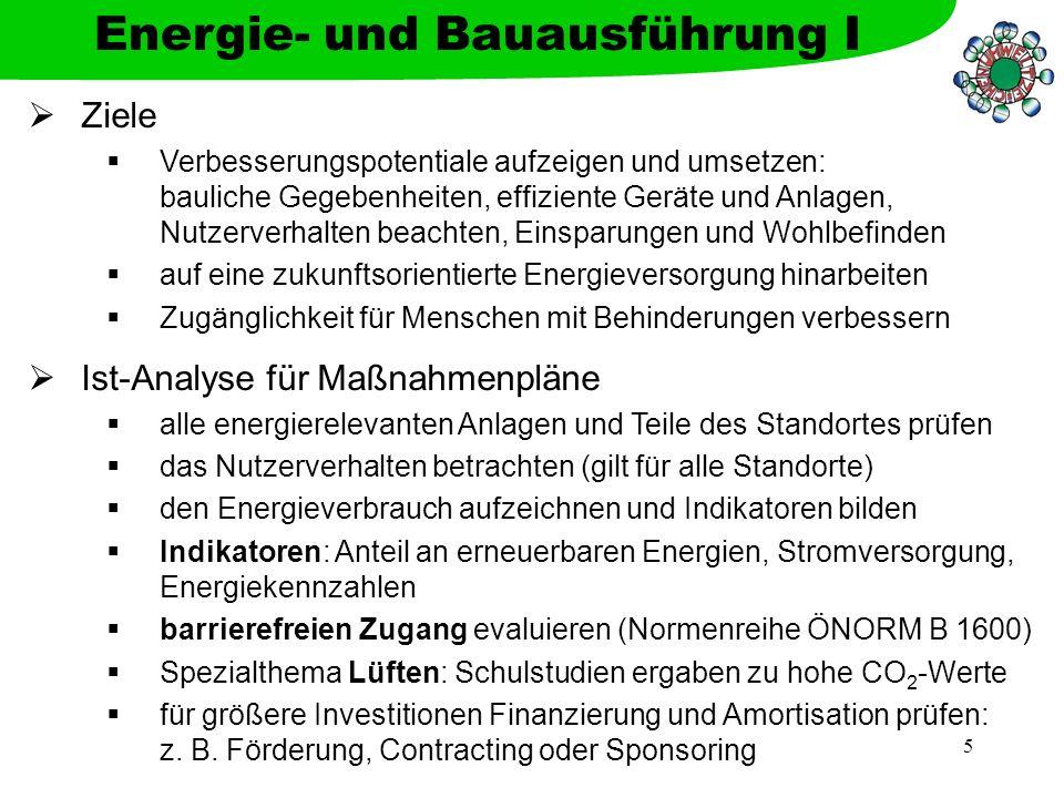 Energie- und Bauausführung I