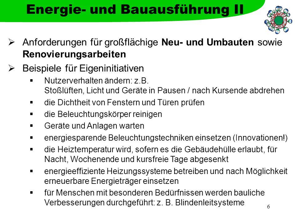 Energie- und Bauausführung II