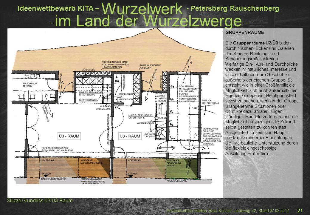 Skizze Grundriss U3/Ü3-Raum