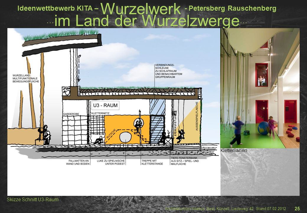 Kletterlianen Skizze Schnitt U3-Raum 25