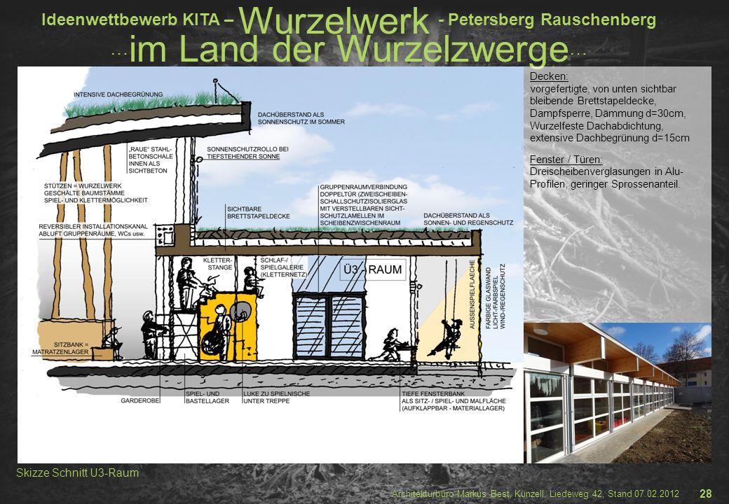 Skizze Schnitt U3-Raum 28 Decken: