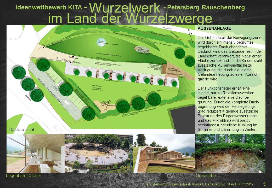 Dachaufsicht begehbare Dächer Grasnarbe 5 AUSSENANLAGE