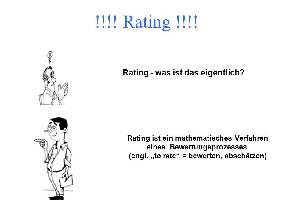 !!!! Rating !!!! Rating - was ist das eigentlich