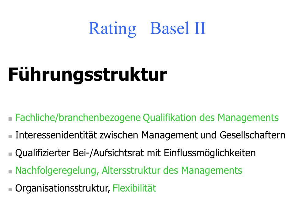 Rating Basel II Führungsstruktur