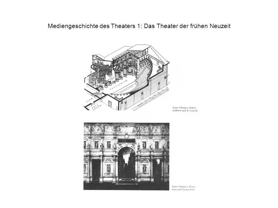 Mediengeschichte des Theaters 1: Das Theater der frühen Neuzeit
