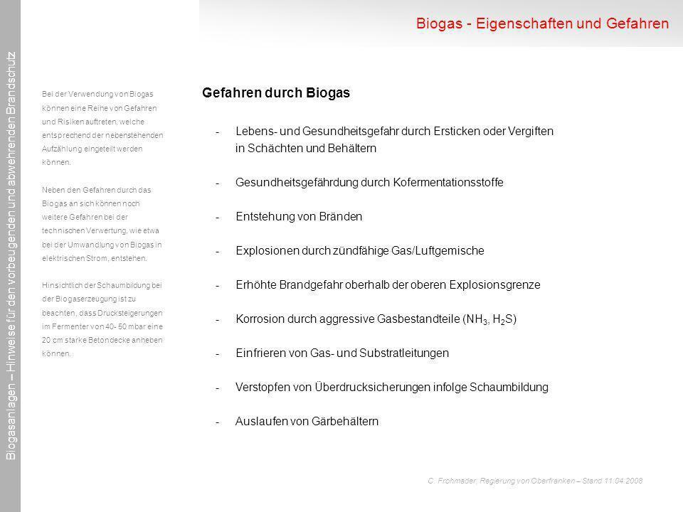 Biogas - Eigenschaften und Gefahren