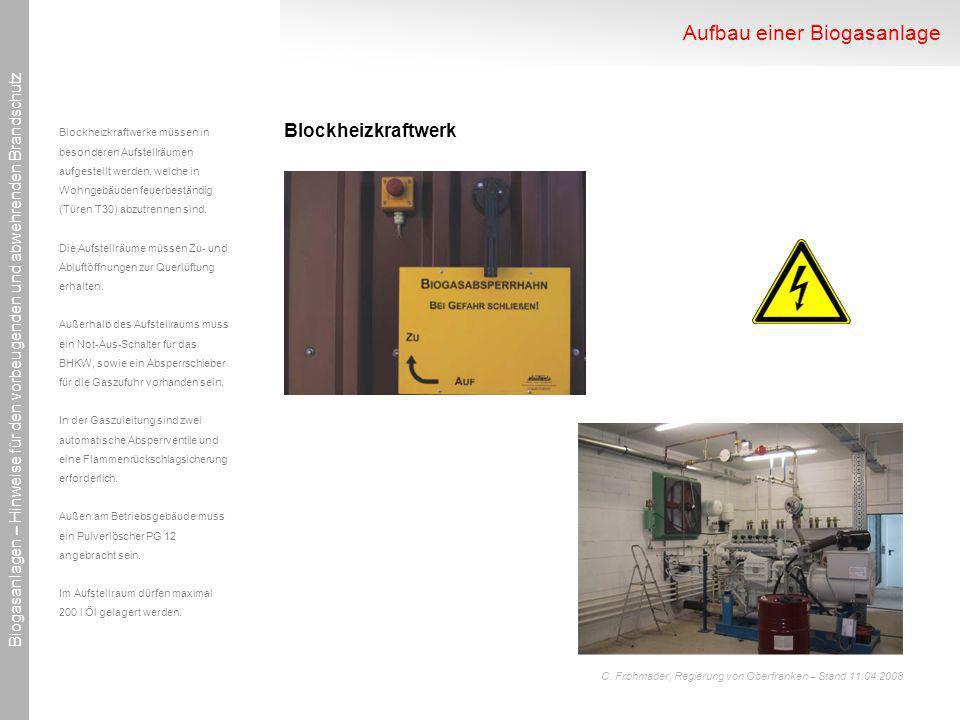 Aufbau einer Biogasanlage