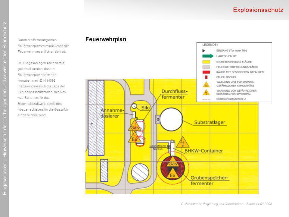 Explosionsschutz Feuerwehrplan